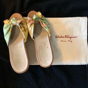 Vintage Ferragamo wedge shoes